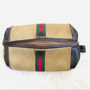 Vintage Gucci style zippered toiletry bag